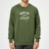 Bald and Jolly Christmas Sweatshirt - forest Green - M - Forest Green